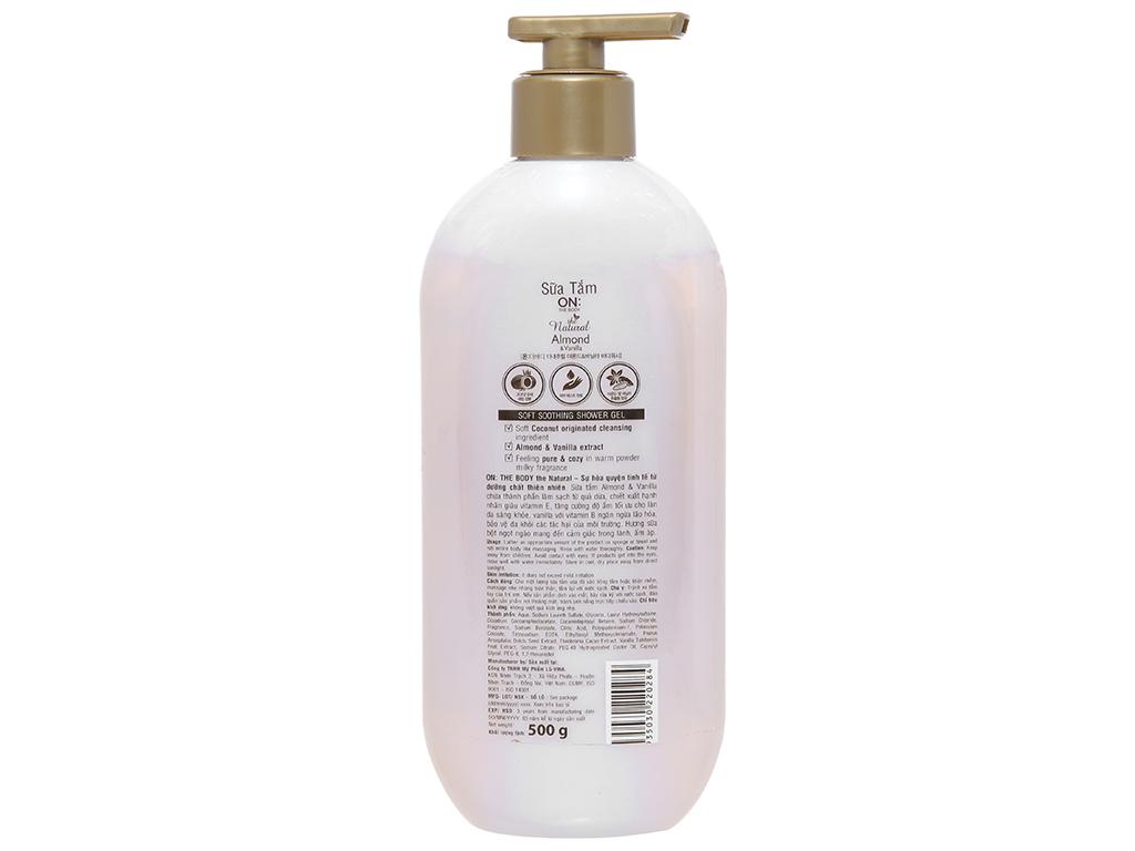 Sữa tắm ON THE BODY Natural Almond & Vanilla 500g 4
