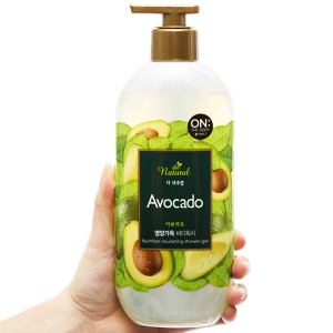 Sữa tắm ON THE BODY Natural Avocado 500g