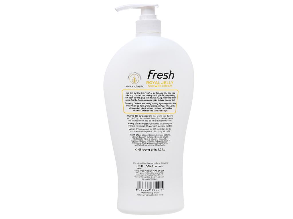 Sữa tắm dưỡng ẩm Fresh sữa ong chúa 1.2kg 3