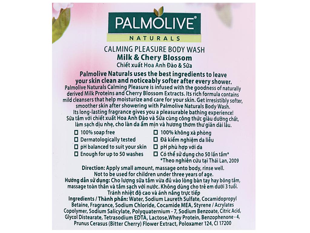 Sữa tắm sảng khoái dịu êm Palmolive hoa anh đào 200g 3