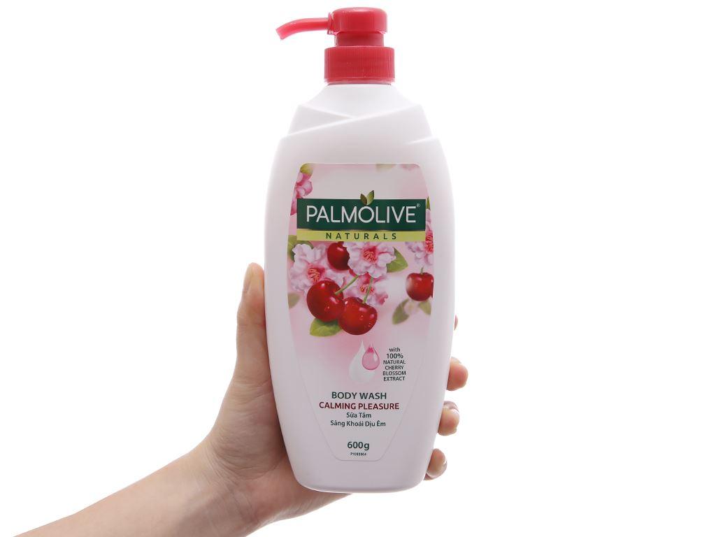 Sữa tắm Palmolive hương anh đào sảng khoái, dịu êm 600g 1