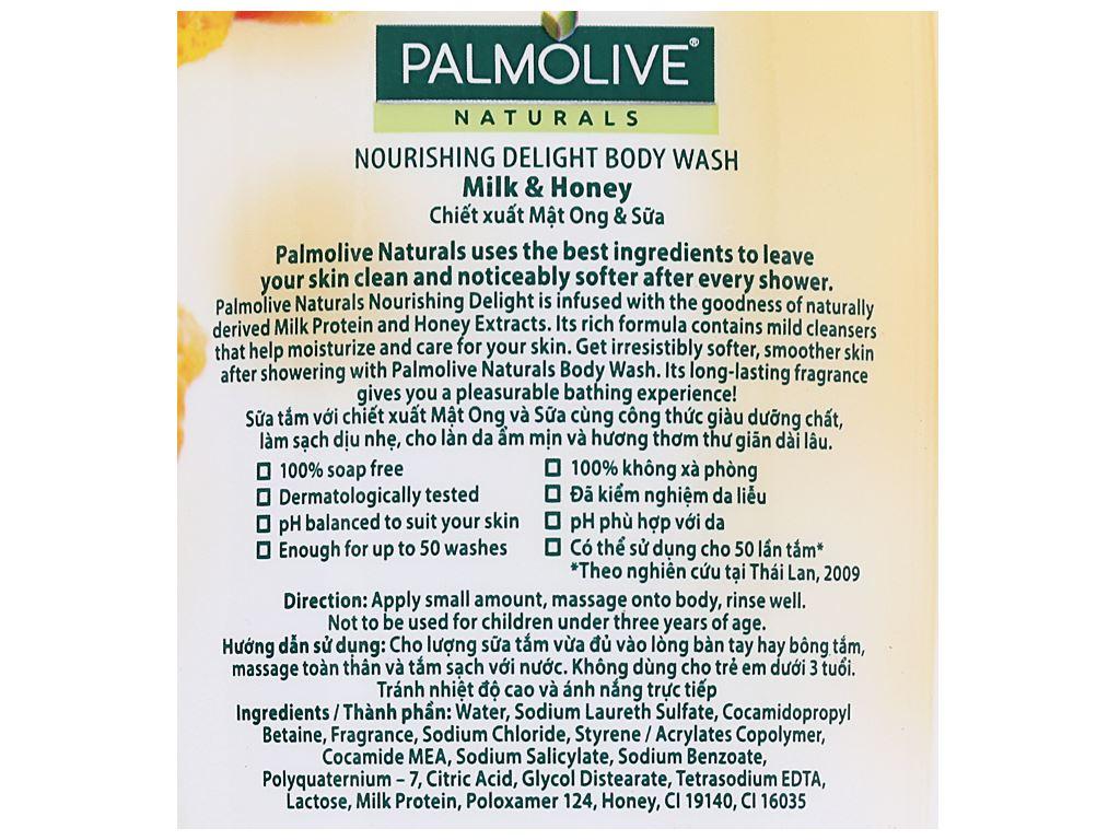 Sữa tắm Palmolive dưỡng ẩm sảng khoái mật ong 200g 3