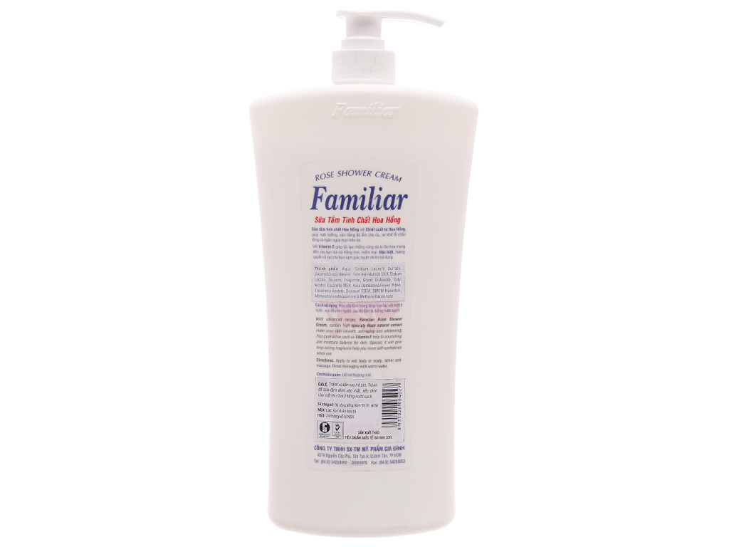 Sữa tắm tinh chất hoa hồng Familiar 1.2l 3