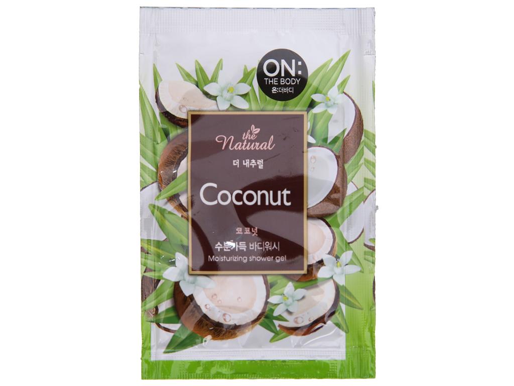 Sữa tắm ON THE BODY Natural Coconut 7g x 10 gói 2