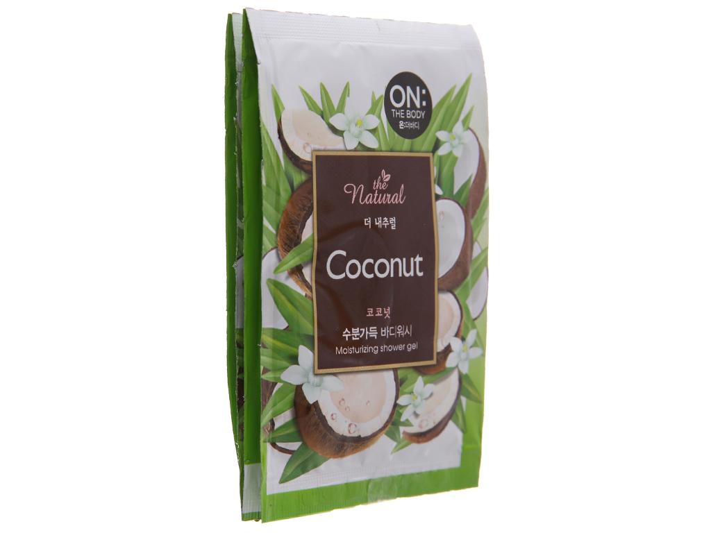 Sữa tắm ON THE BODY Natural Coconut 7g x 10 gói 4
