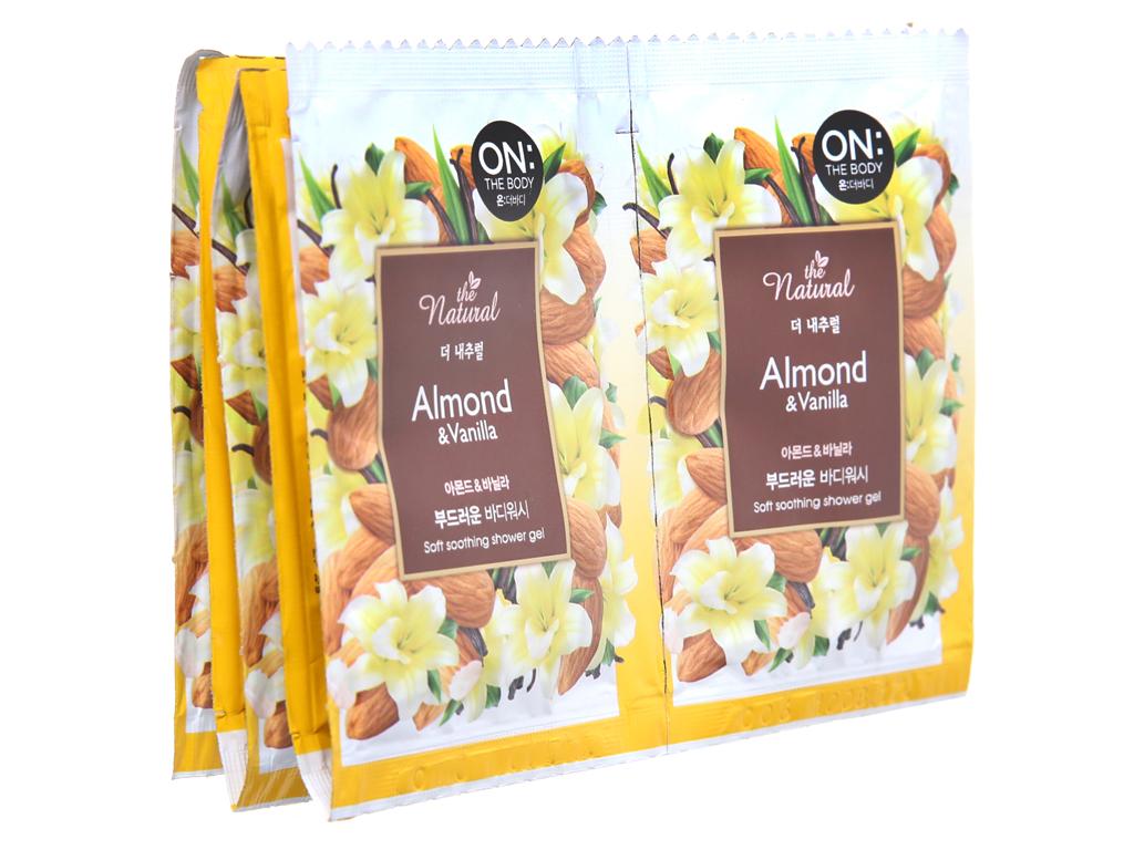 Sữa tắm ON THE BODY Natural Almond & Vanilla 10 gói 2