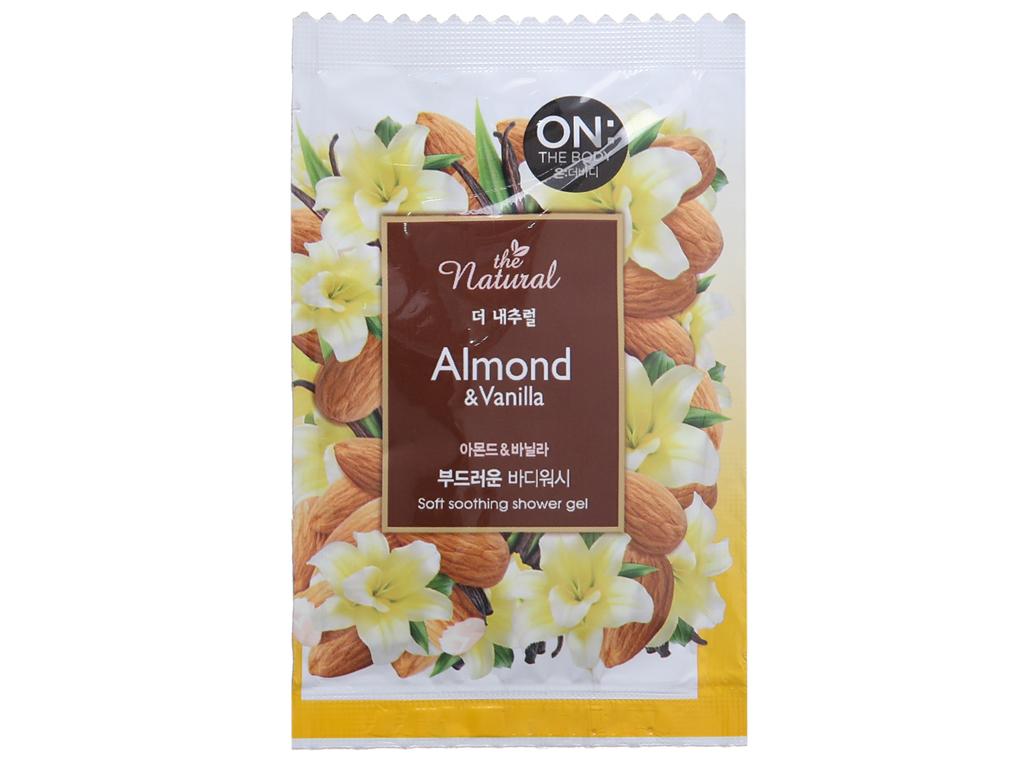 Sữa tắm ON THE BODY Natural Almond & Vanilla 10 gói 3