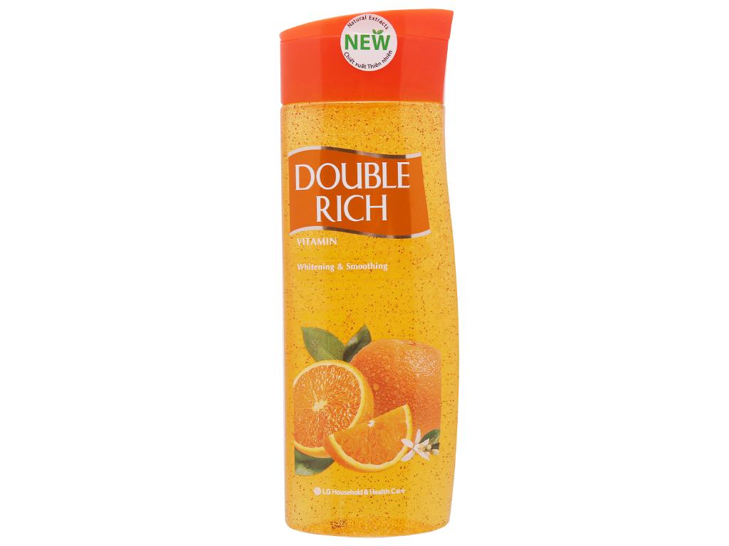 Sữa tắm hạt dưỡng trắng mịn màng Double Rich hương cam 420g 2