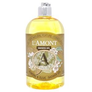 Sữa tắm L'amont Hạt hạnh nhân, olive chai 500ml