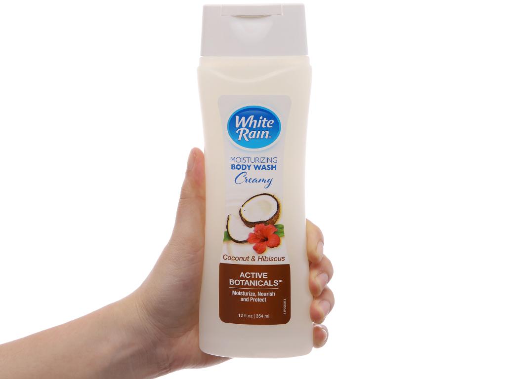 Sữa tắm White Rain Moisturizing Creamy dừa & dâm bụt 354ml 4
