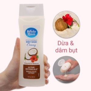 Sữa tắm White Rain Moisturizing Creamy dừa & dâm bụt 354ml