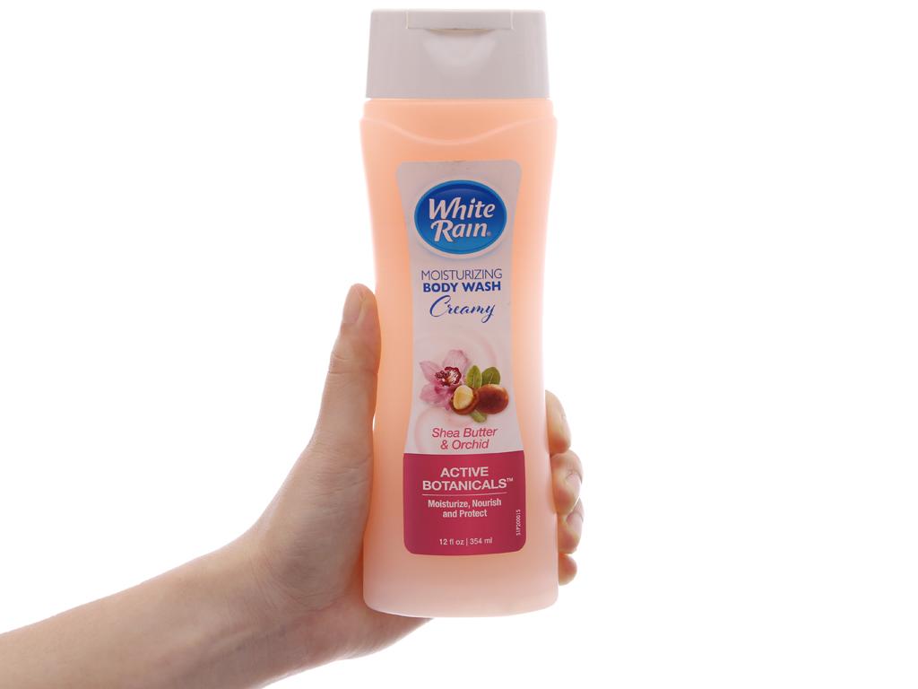 Sữa tắm White Rain Moisturizing Creamy bơ hạt mỡ & hoa lan 354ml 4
