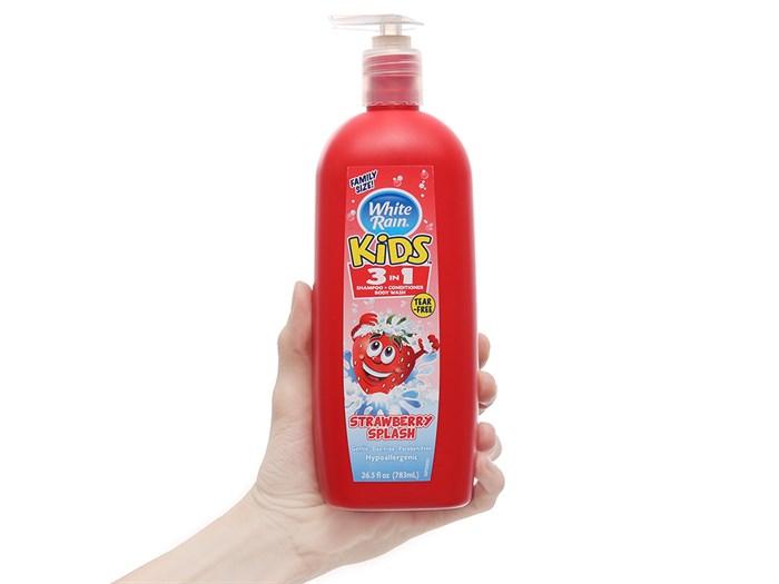 """Kết quả hình ảnh cho Dầu tắm gội White Rain Kids 3in1 Strawberry Splash 783 ml"""""""