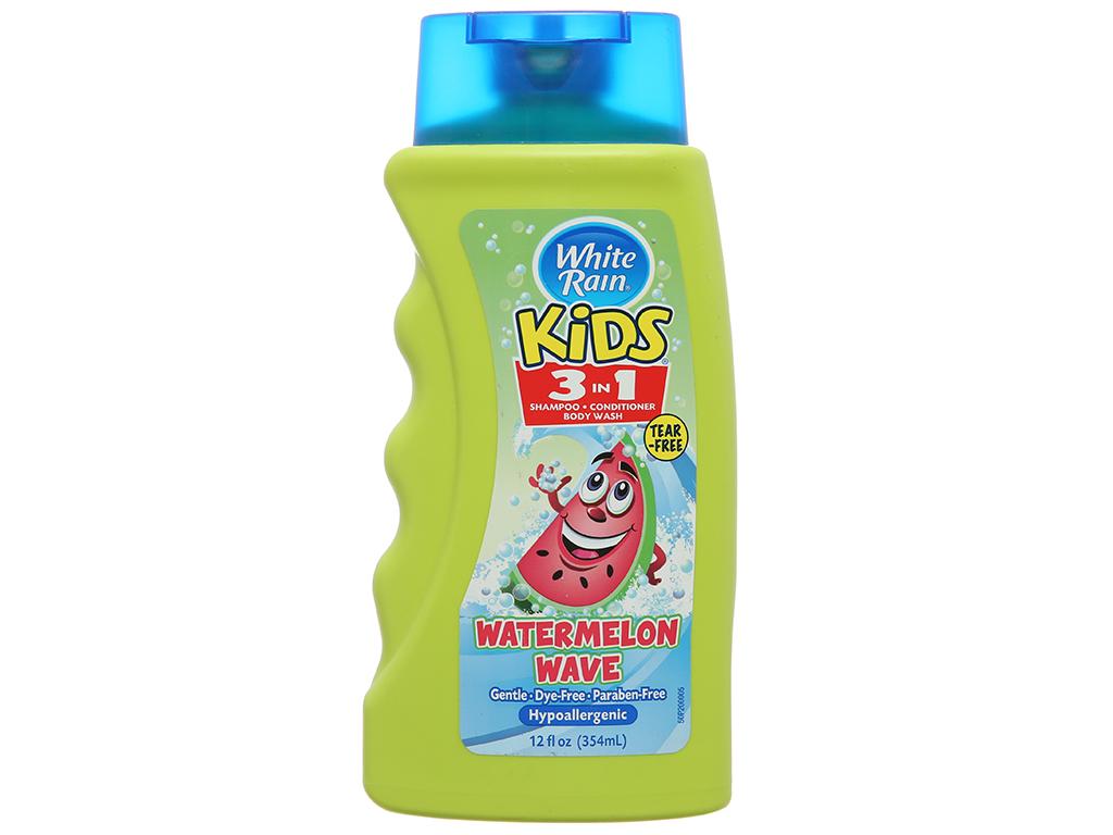 Dầu tắm gội cho bé White Rain Kids 3in1 (dưa hấu) 354ml 2