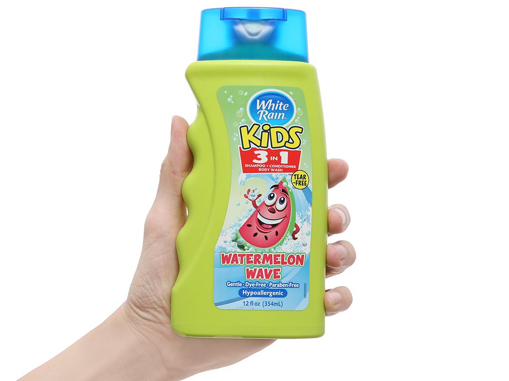 Dầu tắm gội cho bé White Rain Kids 3in1 (dưa hấu) 354ml 4
