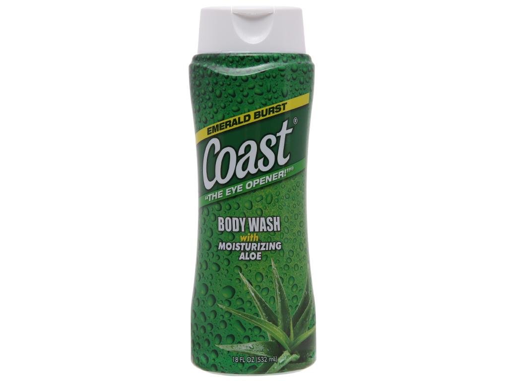 Sữa tắm Coast Emerald burst nha đam 532ml 2