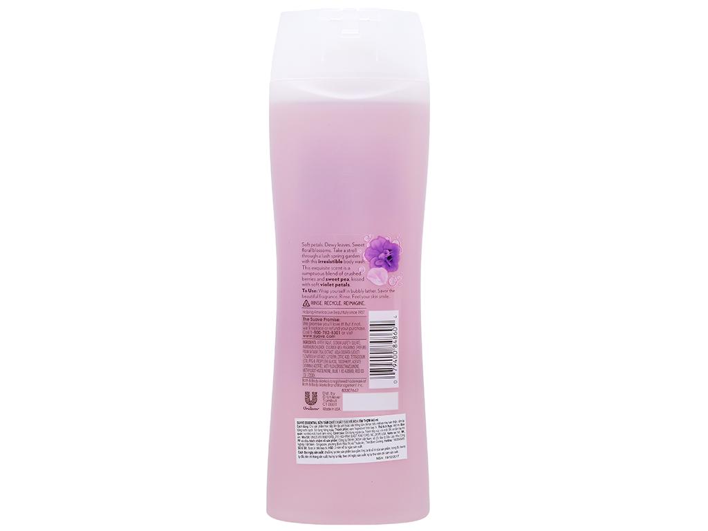 Sữa tắm Suave Essential hoa đậu & hoa Violet 443ml 3