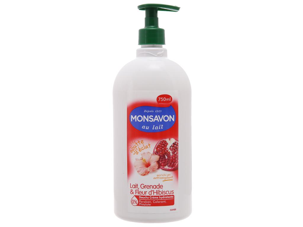 Sữa tắm Monsavon sữa, lựu và hoa dâm bụt 750ml 2