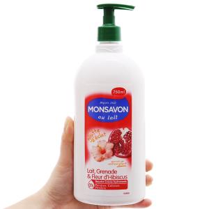 Sữa tắm Monsavon sữa, lựu và hoa dâm bụt 750ml