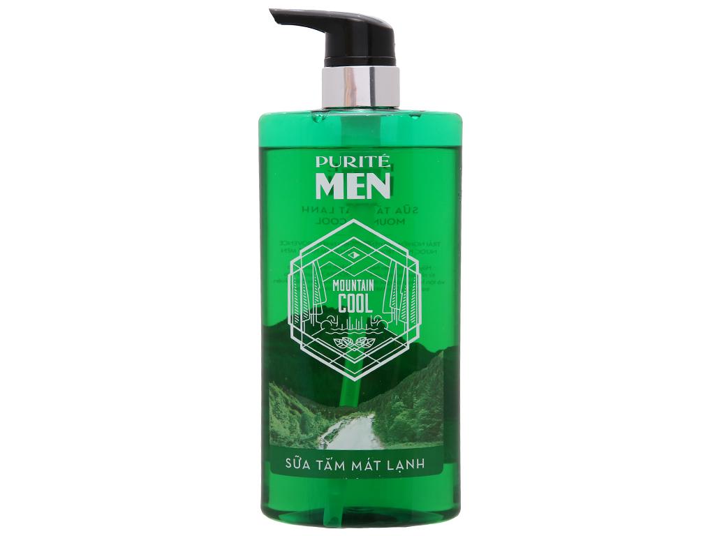 Sữa tắm mát lạnh Purité Men Mountain Cool 700ml 2
