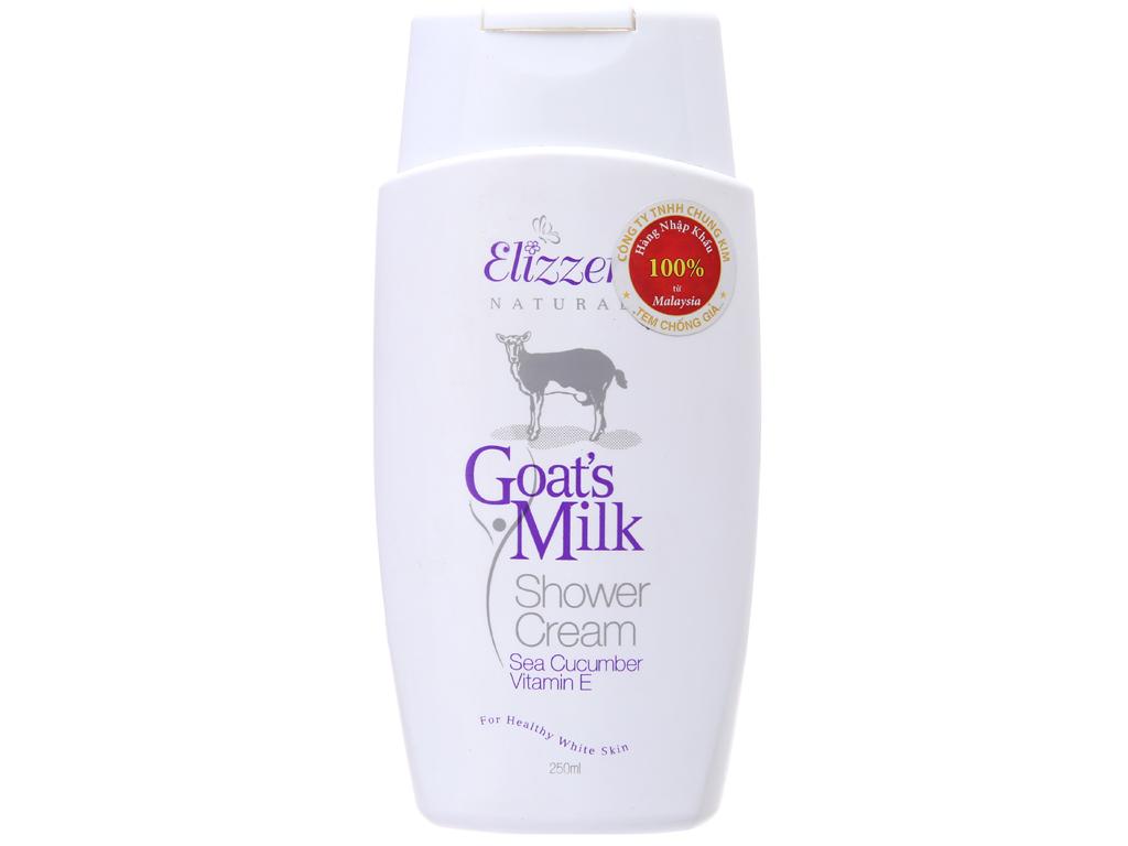 Sữa tắm Elizzer dưỡng ẩm sữa dê 250ml 2