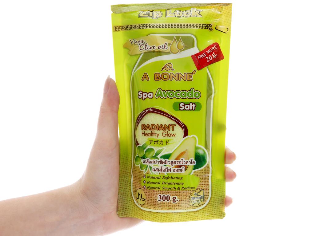 Muối sữa spa Abonné chiết xuất bơ 300g 4