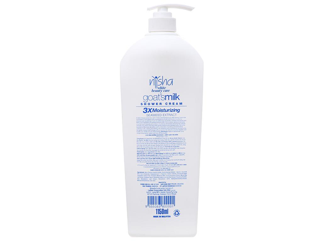 Sữa tắm trắng da Nysha White Beauty Care 1.15 lít 3