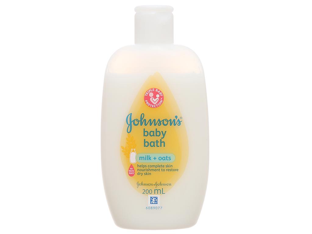 Sữa tắm cho bé Johnson's Baby Milk & Oats 200ml 2
