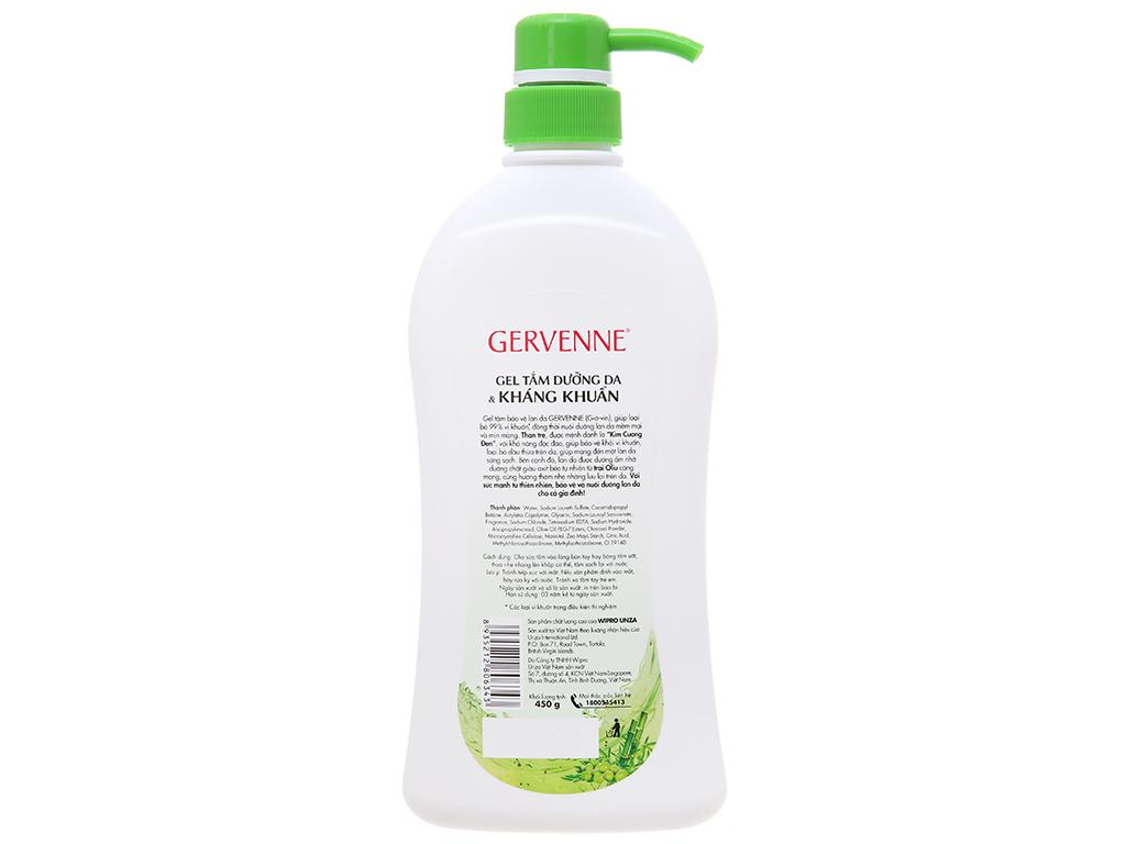 Gel tắm dưỡng da & kháng khuẩn Gervenne 450g 3