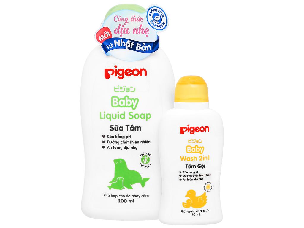 Sữa tắm cho bé Pigeon Liquid Soap 200ml 4
