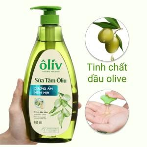 Sữa tắm ôliu Ôliv dưỡng ẩm mềm mịn 650ml