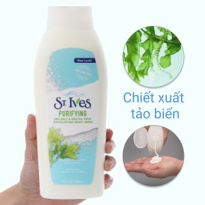 Sữa tắm ST.IVES Purifying muối biển và tảo bẹ 709ml
