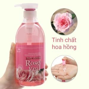 Sữa tắm Body Shower tinh chất hoa hồng 750ml