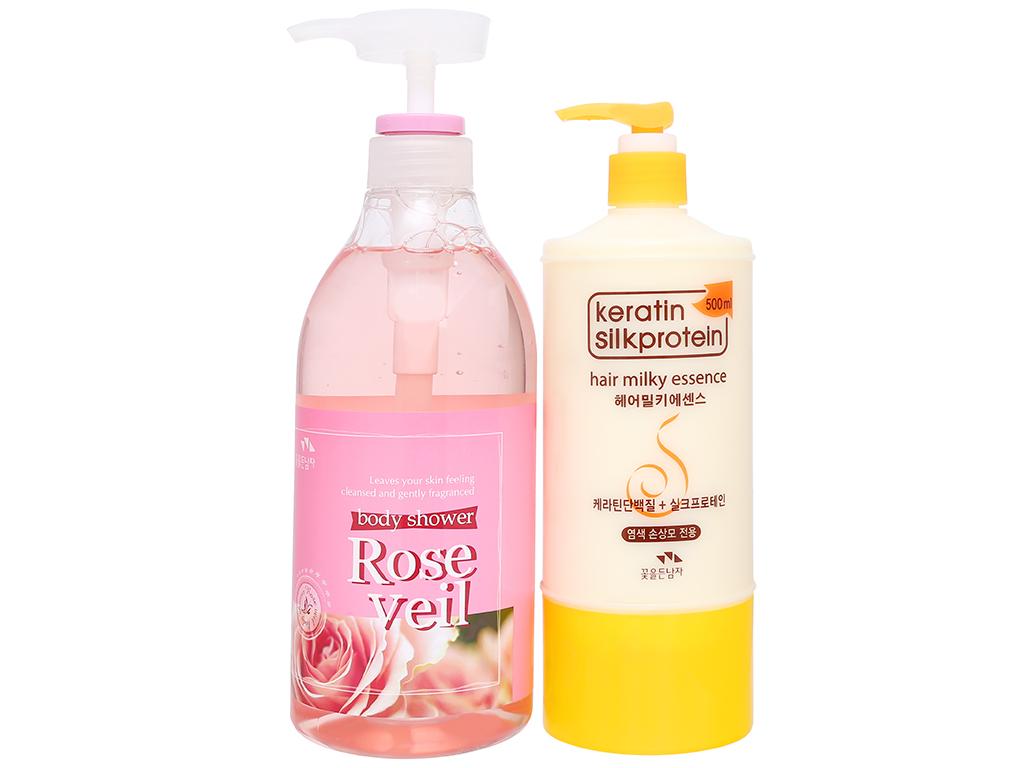Sữa tắm tinh chất hoa hồng Body Shower 750ml 1