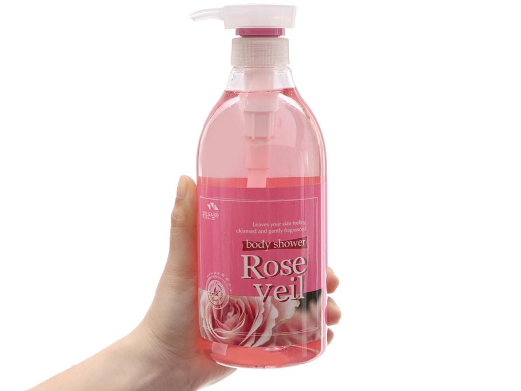 Sữa tắm tinh chất hoa hồng Body Shower 750ml 4