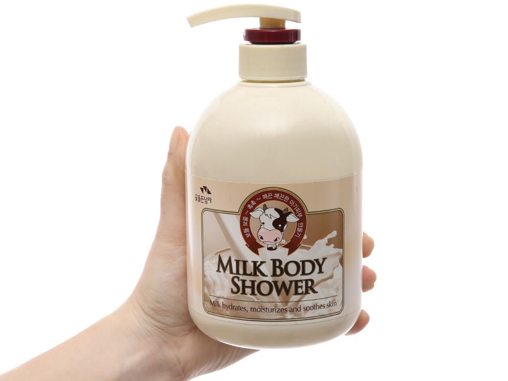 Sữa tắm tinh chất sữa Cosmocos 750ml 4