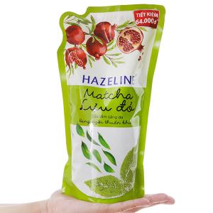 Sữa tắm sáng da Hazeline matcha lựu đỏ bịch 995ml