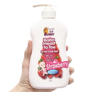 Tắm gội cho bé Soft Bunny dâu & sữa dê 500ml