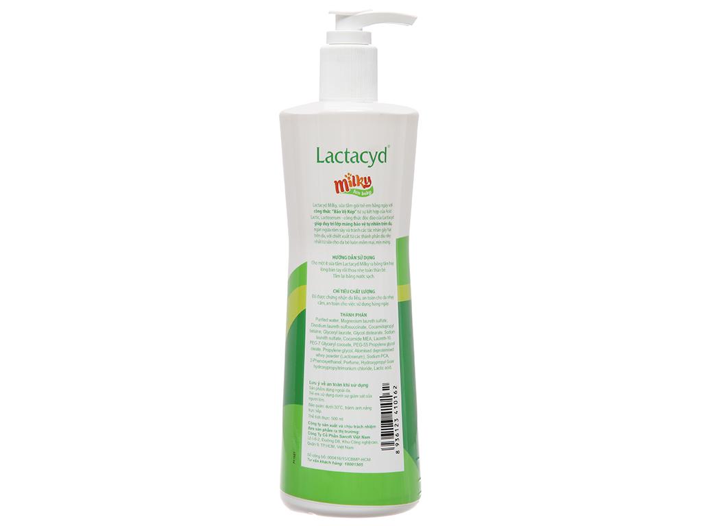 Sữa tắm cho bé Lactacyd bảo vệ chăm sóc da 500ml 3