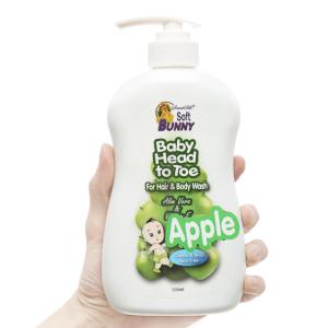 Tắm gội cho bé Soft Bunny táo xanh & sữa dê 500ml