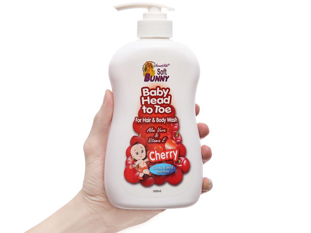 Tắm gội cho bé Soft Bunny 500ml 4