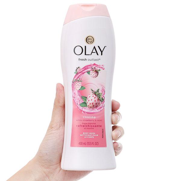 Sữa tắm Olay Fresh Outlast hương dâu và bạc hà 400ml