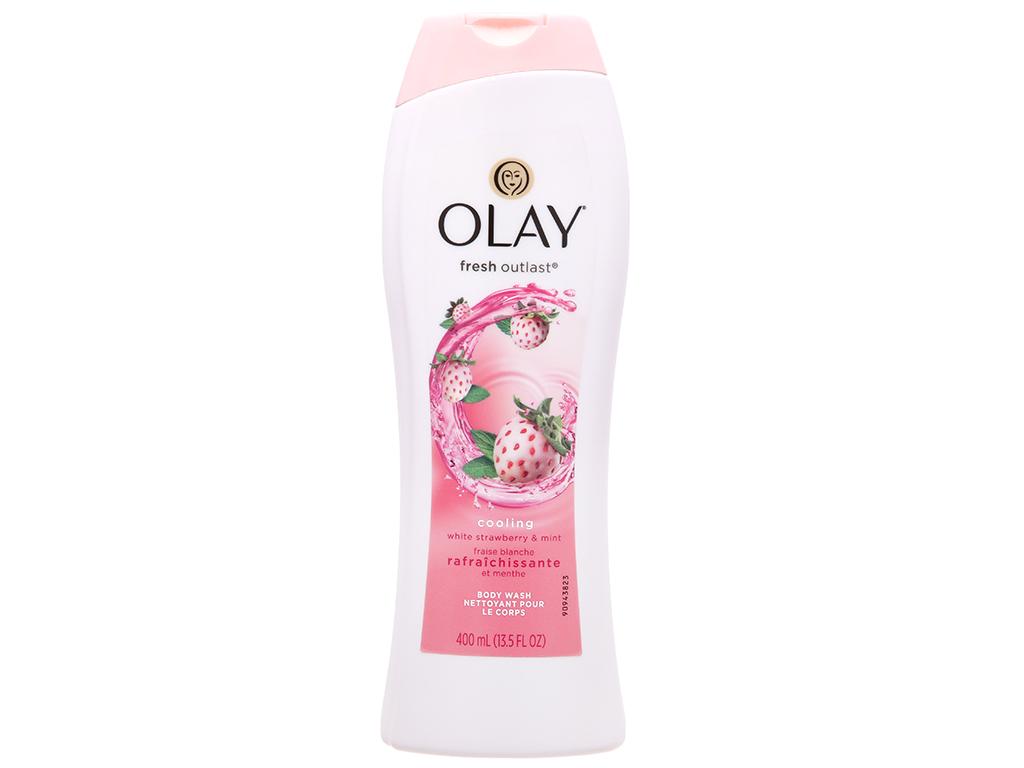 Sữa tắm Olay Cooling White hương dâu và bạc hà 400ml 2