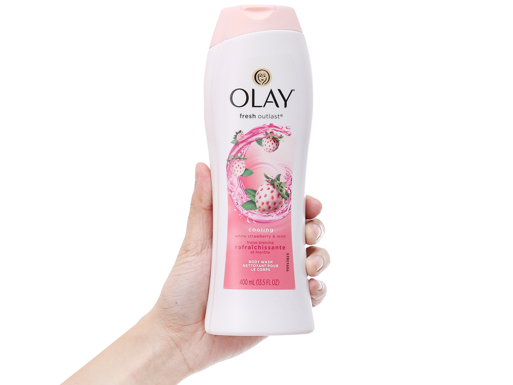 Sữa tắm Olay Cooling White hương dâu và bạc hà 400ml 4