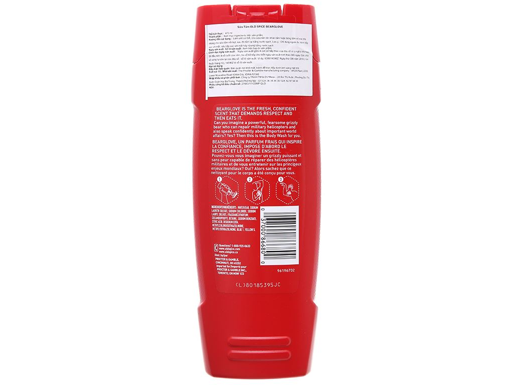 Sữa tắm Old Spice Bearglove 473ml 3