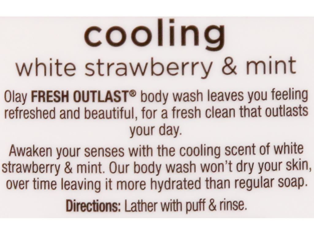 Sữa tắm Olay Cooling hương dâu và bạc hà 650ml 5