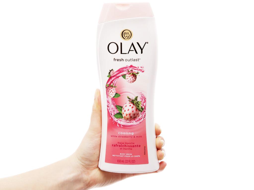 Sữa tắm Olay Cooling hương dâu và bạc hà 650ml 8