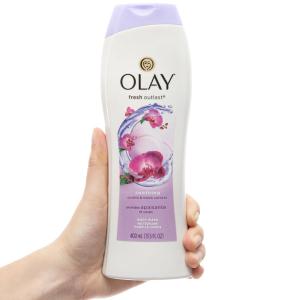 Sữa tắm Olay Fresh Outlast hương hoa lan và quả lý chua lê 400ml