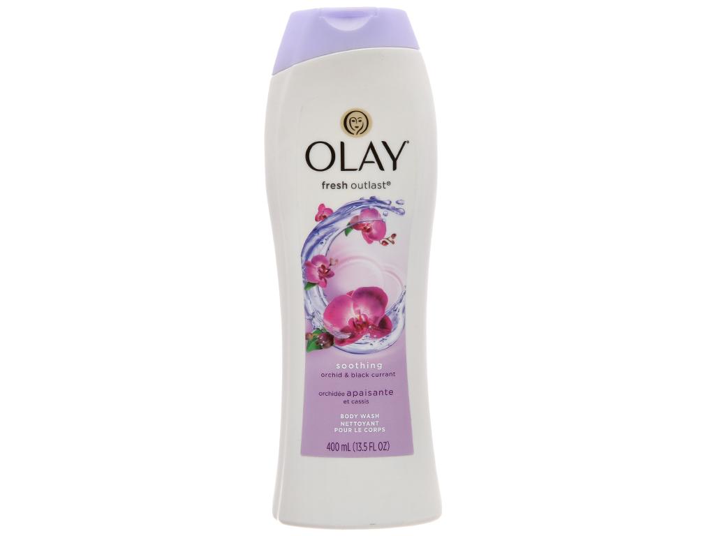 Sữa tắm Olay Fresh Outlast hương hoa lan và quả lý chua lê 400ml 2