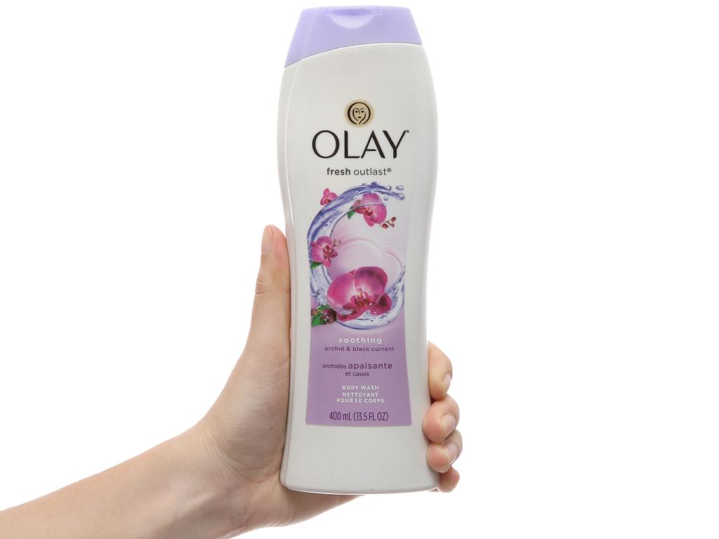 Sữa tắm Olay Fresh Outlast hương hoa lan và quả lý chua lê 400ml 4